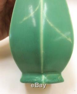 Rookwood 1924 Matte Green Vase Vtg Art Pottery American Classic Design