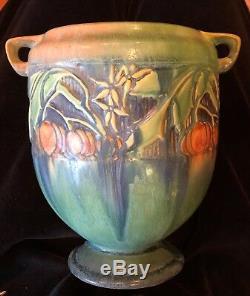 Roseville Pottery Baneda Green Jardiniere Vase 7