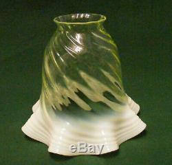 Set of 3 VASELINE/OPALESCENT LAMP SHADES