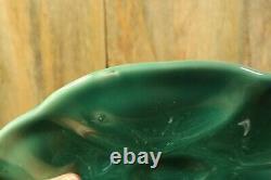 Set of 4 French Antique Majolica Oyster Celadon Seafoam Blue Green GIEN Marked