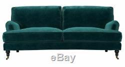 Sofa. Com bluebell three seater sofa in jade velvet smart velvet