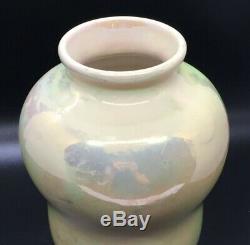 St Lukas Utrecht Iridescent Earthenware Vase Lustre Glaze Holland Early 1900s
