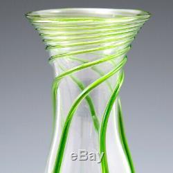 Stuart Art Nouveau Green Trailed Bud Vase c1910
