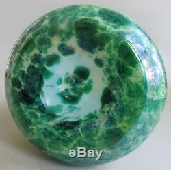 Superb 14.5 KRALIK ART NOUVEAU Iridized Glass Vase c. 1910 antique Bohemian