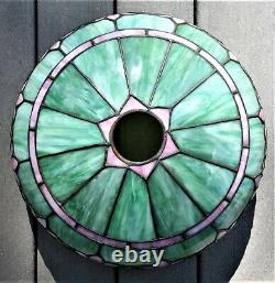 Superb Whaley Table Lamp, 15 In, Ca. 1910, Verdigris Patina, Super Condition