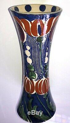 T. G. Green (Cornishware) IVANHOE Vase c1898 Dr Christopher Dresser