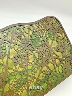 Tiffany Studios Bronze & Glass Three Piece Grapevine Desk Set
