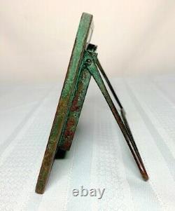 Tiffany Studios, Grapevine Small Desk Calendar, Green Glass, Patina, Complete