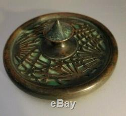 Tiffany Studios New York Pine Needle 936 Green Glass Paperweight Favrile Bronze