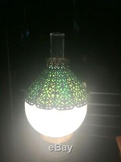 Tiffany Studios Ny 10 Bronze Fleur De Lis Stained Glass Lamp Shade Handel Era