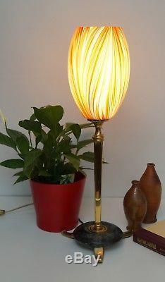 Unikate Art Deco Tischleuchte RED & GREEN Messing Lampe Berlin Art Nouveau