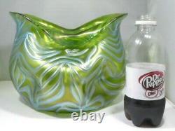 Unusual Large Biomorphic Iridescent Loetz Vase