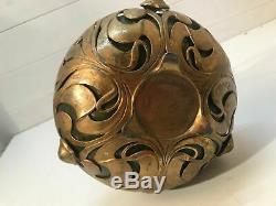 Vase in OSIRIS gilt metal mount by WALTER SCHERF, 1900, VERY RARE-bargain