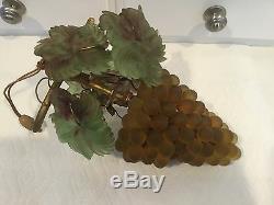 Vintage Art Nouveau Murano Czech Glass Grape Cluster Fruit Figural Chandelier