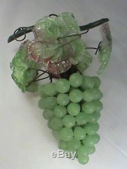 Vintage Art Nouveau Murano Czech Glass Grape Cluster Fruit Figural Chandelier G1