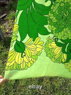 Vintage Scandinavian Oilcloth Upholstery Canvas Fabric Art Deco Nouveau Green