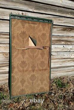 Vintage Victorian Art Nouveau Painted Green Fireplace Screen Nude Fairy 52x 26