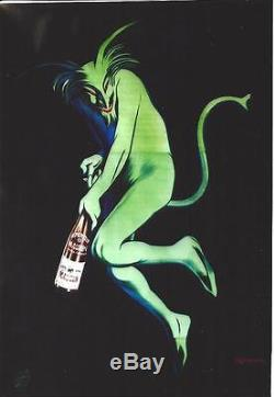 Vintage poster MAURIN FRENCH APERITIF GREEN DEVIL