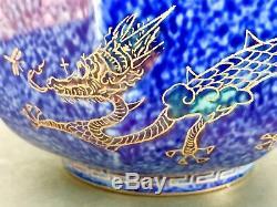 Vivid Blue Wedgwood England Fairyland Lustre Dragon Design by Daisy Makeig Jones