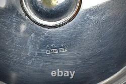 WMF Silver Plated ArtNouveau Centrepiece/ FruitStand, Green Iridescent Glass Bowl