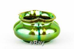 ZSOLNAY CACHEPOT VASE ART NOUVEAU EOSIN Green Gold Hungary Porcelain